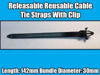 20x 142mm Clips For Honda Mazda Releasable Reusable Cable Tie Straps With Black
